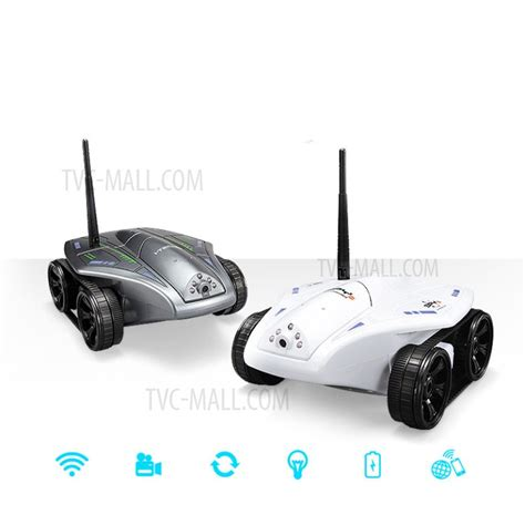 Wifi Tank Mini Ios Android Remote Rc Rechargeable gold light 777 325 wifi 0 3mp rc tank support ios android operation white