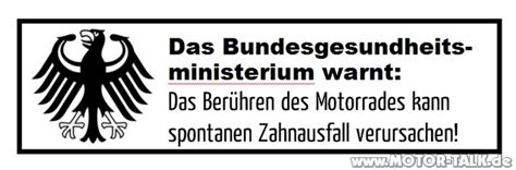 Motorrad Spr Che Aufkleber by Motorrad Aufkleber Warnung Aufkleber Zur Gefahrenabwehr