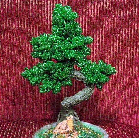 beaded bonsai tree bonsai beaded tree