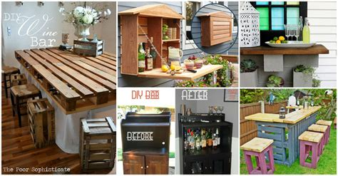 diy house 30 creative diy wine bars for your home and garden