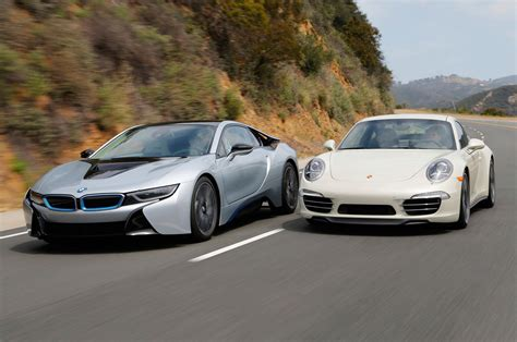 porsche vs bmw bmw i8 vs porsche 911 comparison