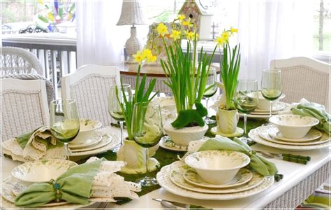 green table setting dinner ideas romatic advice