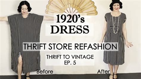 Wardrobe Refashion Wants You To Stop Buying Clothes by 1920 S Style Dress Thrift Store Refashion Thrift To