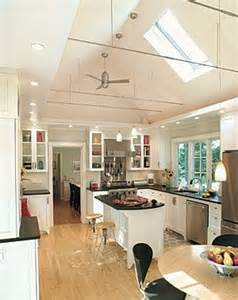 Cathedral Ceiling Kitchen Lighting Ideas Lighting Soffit Idea For Cabinets In A Kitchen With A