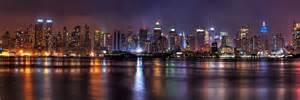 Beautiful Livingroom by New York Panoramic Skyline Cityscape Night Art Print