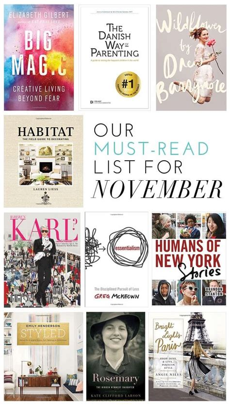 the must guide a listed our must read list for november glitter guide