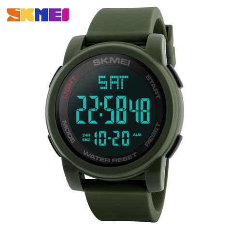 Senter Jam Tangan Digital Swat Kompas skmei jam tangan digital pria dg1257 green jakartanotebook