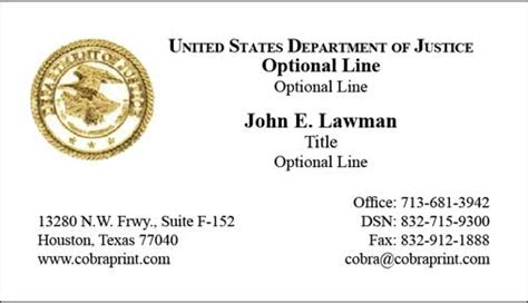government business card template business cards us government gallery card design and