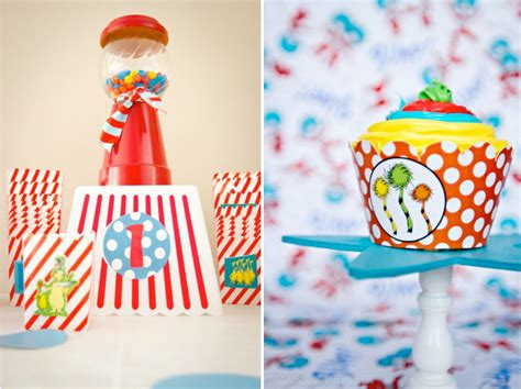 birthday themes unisex dr seuss 1st birthday party for boy and girl unisex via