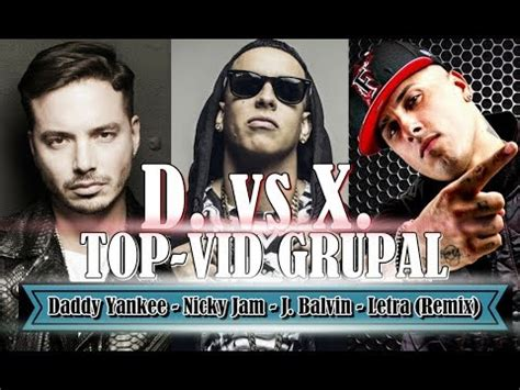 j balvin x remix lyrics daddy yankee nicky jam j balvin dura vs x equis
