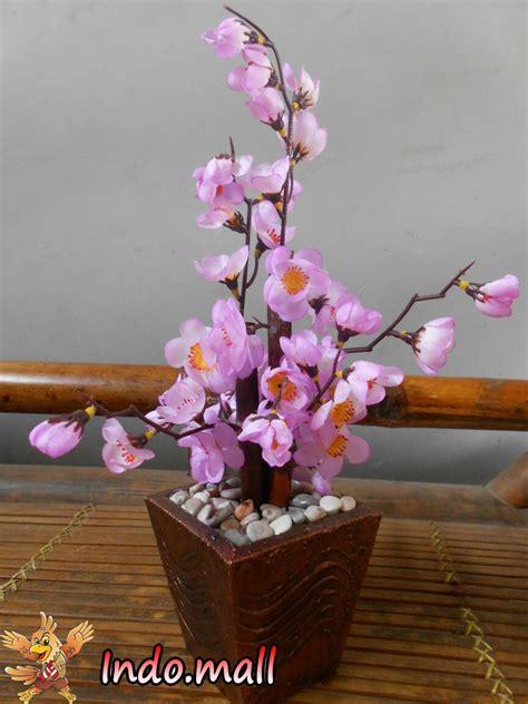 jual pohon sakura hias dekorasi imlek bunga plastik