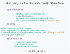 How To Make A Critic Paper - how to write a critique of a novel