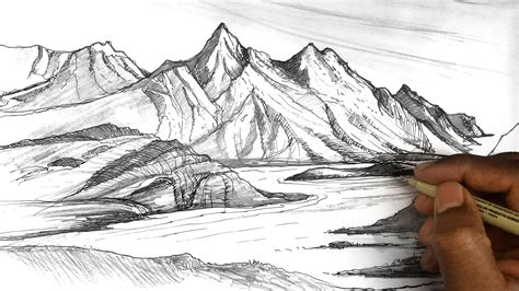 Sketches Mountains by How To Draw Mountains Mountain Sketches