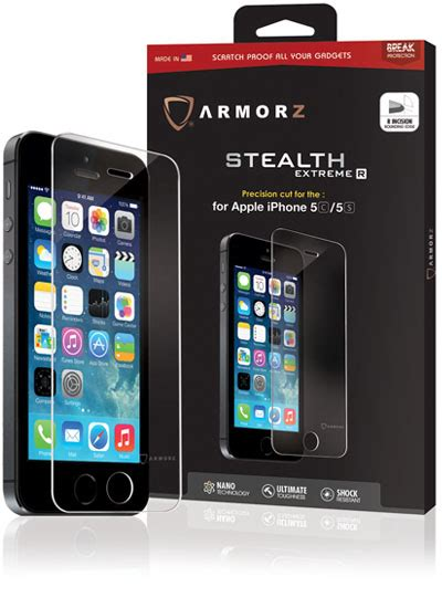 Iphone 5c Melkco Air 0 4mm armorz stealth r la pellicola protettiva per