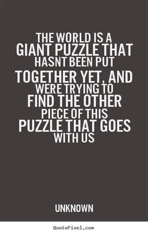 puzzle piece quotes  life quotesgram