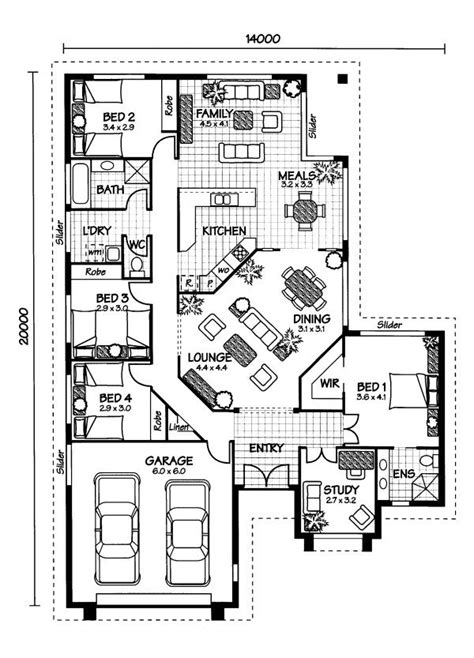 australian home plans floor plans the arlington 171 australian house plans