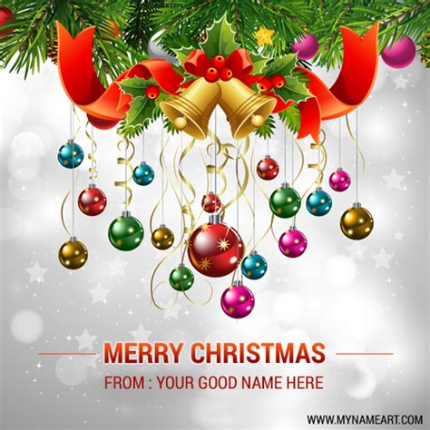 cristmas ball write name ornaments pics edit and write your name wishes greeting card