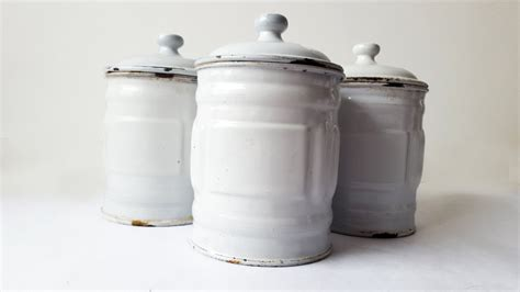 kitchen canisters french 1930 s french kitchen white canisters set of 3 french