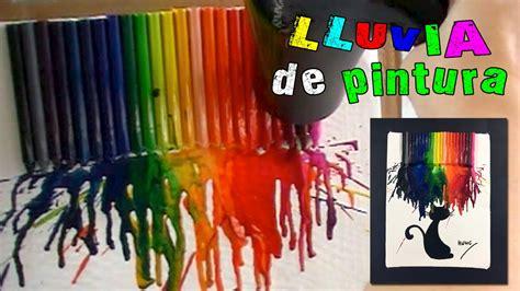 cuadro con ceras derretidas cuadro con ceras o crayolas derretidas 161 lluvia de pintura