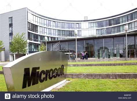 stock photo company headquarters of microsoft company for germany and europe
