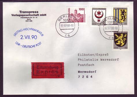 Post Schweiz Express Brief Ddr Brief Per Express 2 Vii 90 Ersttag Mischfrankatur Ddr Deutsche Post 63 183 Philastudio