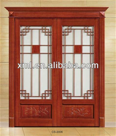 Interior Decorative Glass Insert Solid Wood Sliding Doors Interior Bifold Doors With Glass Inserts
