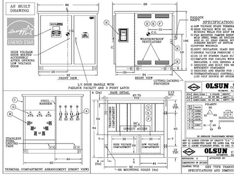 olsun transformer wiring diagram 1000 kva type