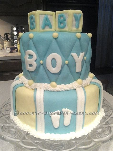 Coolest Baby Shower Cakes by Cool Baby Shower Cake For A Boy
