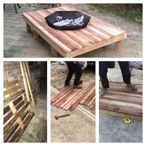 Pallet Fire Pit Table Diy Pinterest Pallet Fire Pit Pallet Pit
