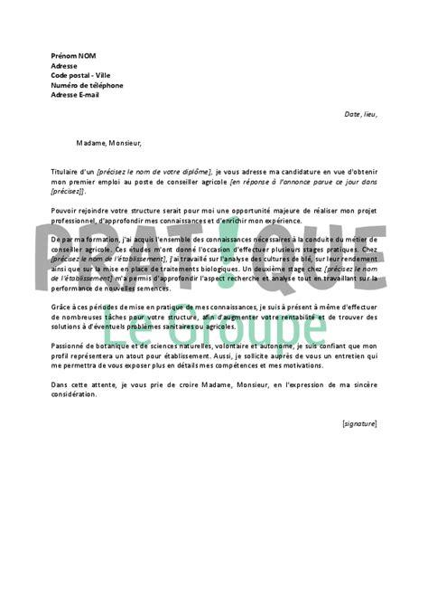 Lettre De Motivation De Téléconseiller Lettre De Motivation Pour Un Emploi De Conseiller Agricole D 233 Butant Pratique Fr