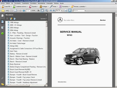 service repair manual free download 2008 mercedes benz e class auto manual mercedes w163 service repair workshop manual