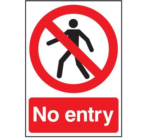 no sign no entry sign