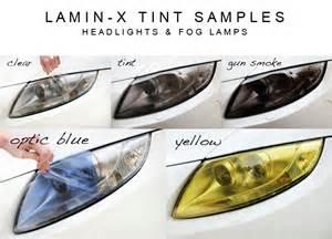 lamin x headlight light and fog light lens tint