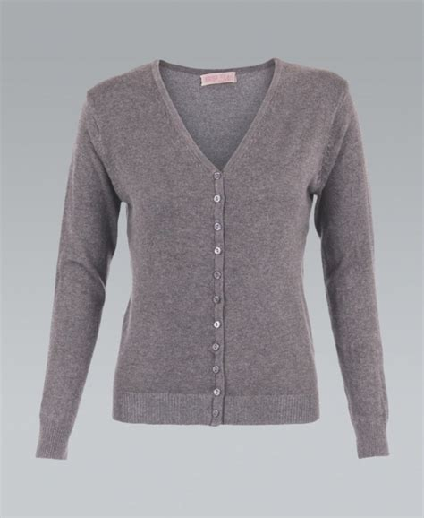 Grey Plain Cardigan 219328 krisp knit button up plain grey cardigan krisp from krisp clothing uk