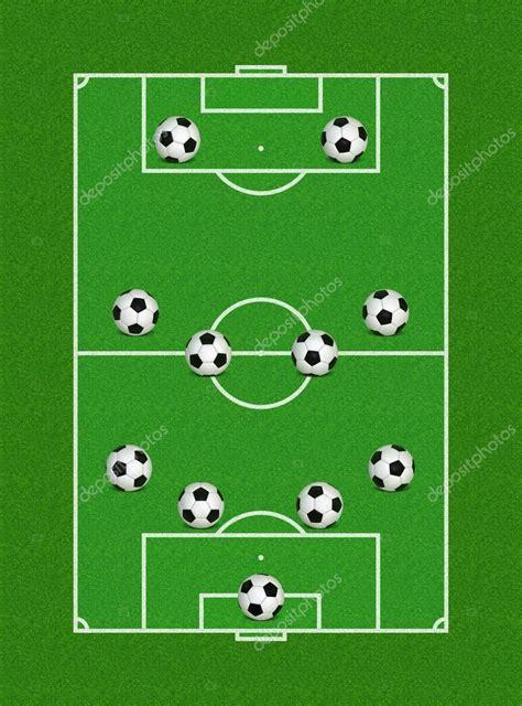 fussball tafel aufstellung 4 4 2 fussball bildung stockfoto 169 brunoil 13638581