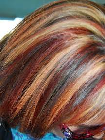 colored highlights my multi color highlights