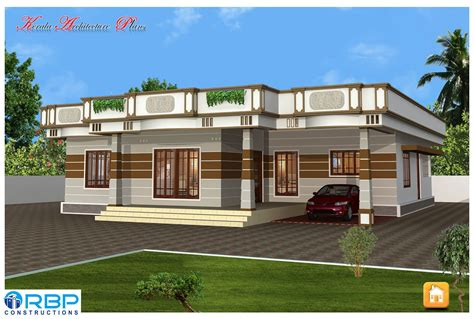 kerala house architecture plans kerala style single storied house plan and its elevation architecture kerala
