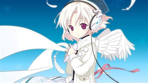 anime girl cartoon wallpaper anime girl with headphones wallpaper
