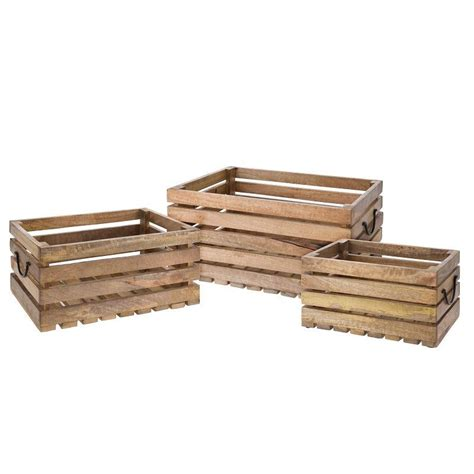ellister wooden decorative garden crates set of 3 on sale