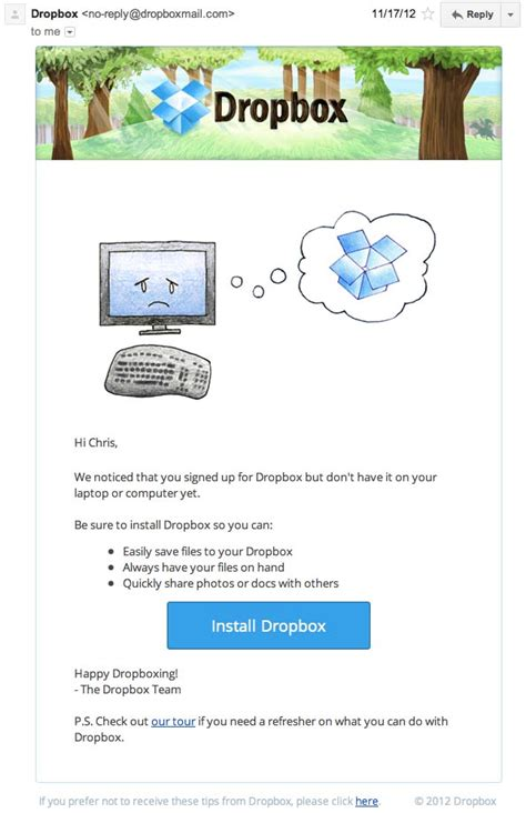 dropbox email revealed 50 smart ways to segment your email list to get