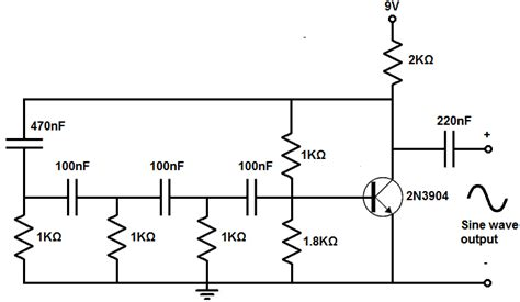 generator capacitor circuit how to build a sine wave generator circuit with a transistor