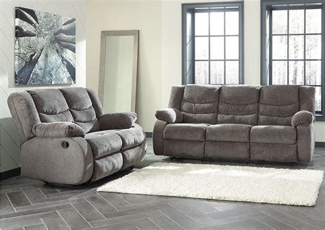 Kensington Furniture Tulen Gray Reclining Sofa Loveseat