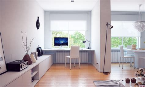 white home office minimalist decor minimalism in the home office