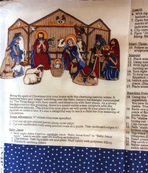 Pattern For Fabric Nativity Set | nativity scene cranston vip fabric panel to make sew cut