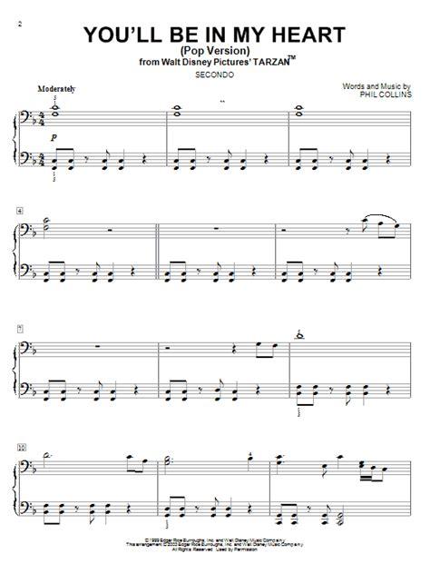 tattooed heart vocal sheet music you ll be in my heart pop version sheet music direct
