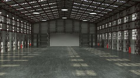 warehouse interior storage warehouse interior 3d model