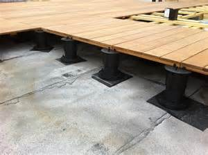 top deck systems adjustable pedestal decking systems all decked out