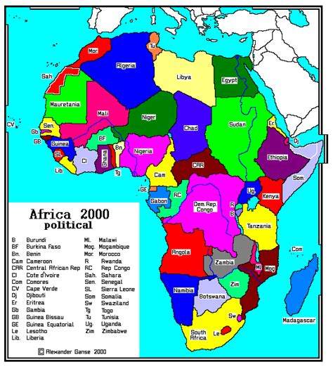 africa map 2000 map africa 2000