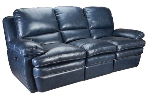blue reclining sofa and loveseat mazarine power reclining leather sofa loveseat at