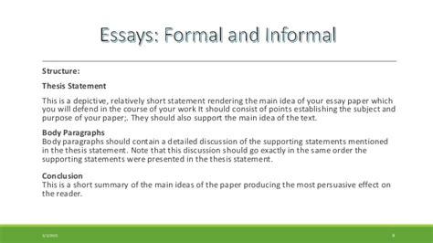 Formal Essay Definition by Informal Essay Definition Exles Of Informal Essays Exle Of Informal Essayhow To Write